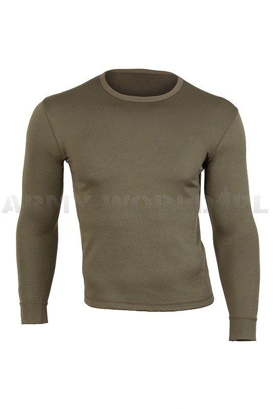 Zdjęcie: Bluza termoaktywna Oliv Wojskowa z długim rekawem Brytyjska używana