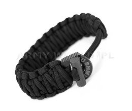 Paracord Bracelet 6 m With A Firestarter Bushmen Black New