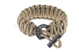 Paracord Bracelet 6 m With A Firestarter Bushmen Coyote New