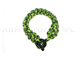 Paracord Bracelet 6 m With A Firestarter Bushmen Geckon Fluorescencyjny New