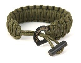 Paracord Bracelet 6 m With A Firestarter Bushmen Oliv New