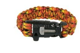 Paracord Bracelet With A Firestarter And A Whistle Bushmen Fire New