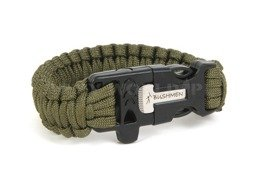 Paracord Bracelet With A Firestarter And A Whistle Bushmen Olive New