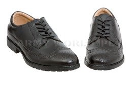 British Army Gala Leather Shoes Black Original New