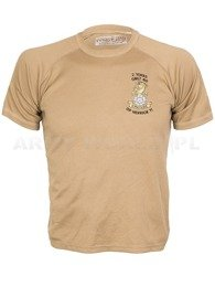 British Thermoactive T-shirt Coolmax  With Badge Yorkshire Brown Used