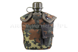 Canteen with Mug + Case Flecktarn GRATIS Mil-tec New