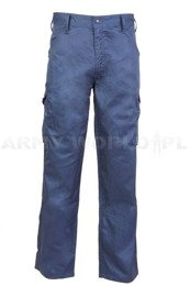 Cargo Trousers Zephyr PolyCotton Navy Blue New