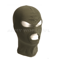 Cotton 3-hole balaclava Mil-tec New Model Oliv