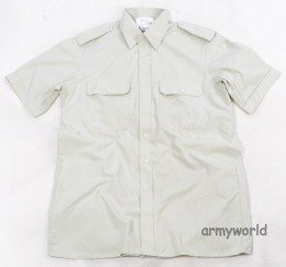 Dutch Military Gala Shirt Greenish-gray Short Sleeves Original Used