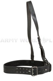 Dutch Military Leather Belt With Sam Browne Belt Black Original New