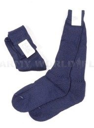 Dutch Woolen Flame-retendant Sailor Socks Dark Blue Original New