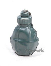 Flask BGS Bundeswehr Aluminium With Leather Cover and Cup Original Demobil