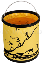 Foldable Tourist Bucket 11 Liters Bushmen Yellow New