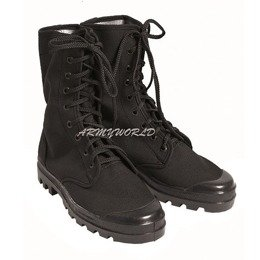 French shoes CANVAS Black Mil-tec New