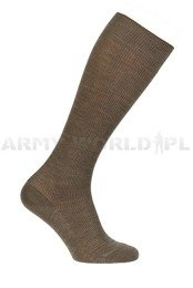 German Police Socks Long Brown Original New