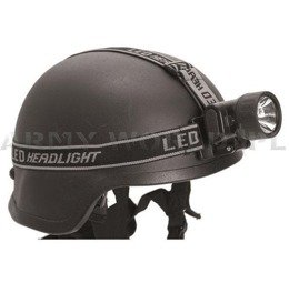 Headlamp Black 3 LED PLUS 1 Mil-tec New