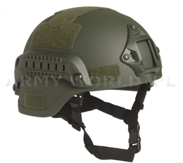 Helmet US MICH 2000 Armed MAX- Mil-tec - Green - New