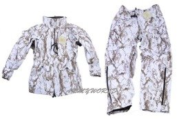Hunting Rainproof Set (Jacket + Trousers) Mil-Tec Snow Camo GEN.III New
