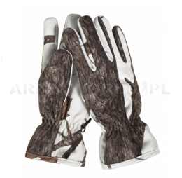 Hunting gloves Wild Trees Gore-tex Mil-tec No-swishing, Winter camouflage