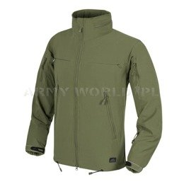 Jacket Helikon-Tex Cougar® QSA™ + HID™ Soft Shell Windblocker Olive Green