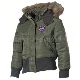 Kids Military Winter JacketN2B MFH Oliv New