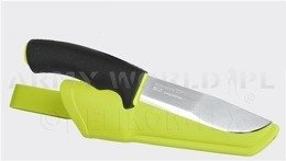 Knife Mora of Sweden® Bush Craft Signal - Stainless Steel - black/ bright green