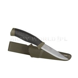 Knife Morakniv® Companion MG (C) - Carbon Steel - Olive Green Nowy