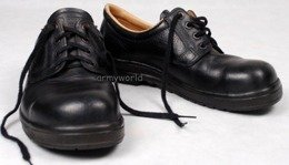 Leather Heavy-duty Shoes Bundeswehr Metal Tips Original New