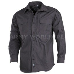Long Sleeve Tactical Shirt MFH Anthrazit New