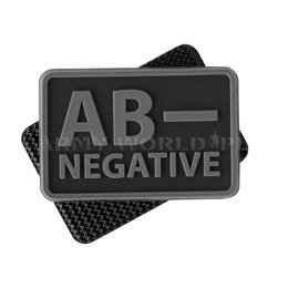 MILITARY EMBLEM PVC BLOOD TYPE - Helikon-tex - SET OF TWO PIECES - BLACK