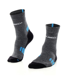 Men's Socks Trekking Light Brubeck Graphite-Blue