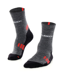 Men's Socks Trekking Light Brubeck Graphite-Red
