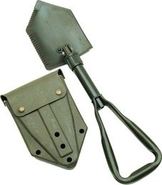 Miliraty Folding Shovel Bundeswehr With Case Original Demobil - Damaged - SecondHand
