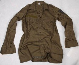 Military Austrian Scout Shirt Oliv Original Demobil