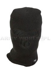Military Balaclava Warmed Mil-tec Black / Oliv Paintball ASG QUAD New
