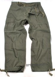 Military Belgian Cargo Trousers Nyco Oliv Original Demobil MODEL I