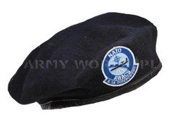 Military Beret With Decorations  NATO AWACS black Original Demobil