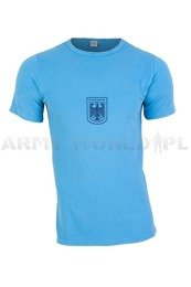 Military Blue T-Shirt Bundeswehr Original Demobil Set of 10 pieces