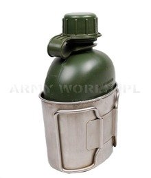 Military Dutch Flask With Cup Original Demobil