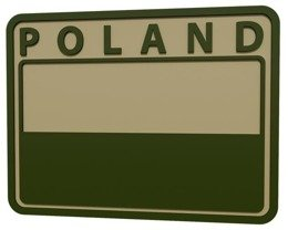 Military Emblem PVC Polish flag  Khaki / Oliv POLAND -  Helikon  set of 2 pieces