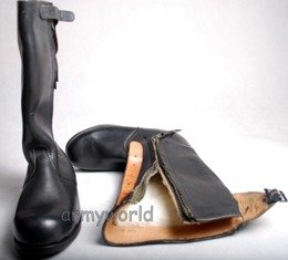 Military Jackboots Patent Leather Shoes Honor Guard Winter Version Original Demobil New