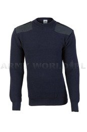 Military Marine Dutch Woolen Sweater Navy Blue Original New