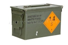 Military Metal Ammo Box Small 30x15x18 Oliv Oryginal Used