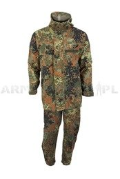 Military Rainproof Set Gore-tex Bundeswehr Flecktarn Original Demobil