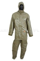Military Rubber Set Rainproof Bundeswehr Jacket and Pants Original Used