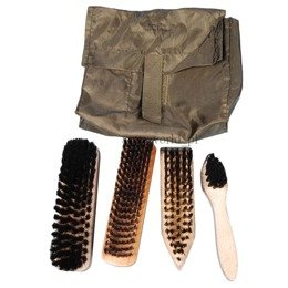 Military Set of Shoe Brushes Original Bundeswehr Demobil