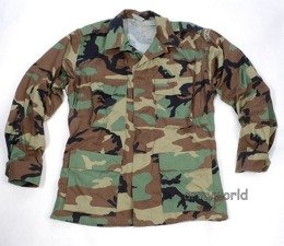 Military Shirt US ARMY Woodland Ripstop Original Demobil