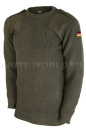 Military Sweater Bundeswehr Oliv Woolen Originla New