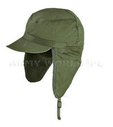Military Swedish Ushanka Cap Oliv Original Demobil