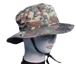 Military Tropical Hat Bundeswehr Flecktarn Original New